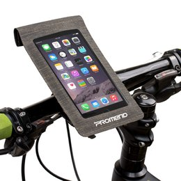 $enCountryForm.capitalKeyWord Australia - Bicycle Phone Bags 6 inch Waterproof Touch Screen Front Frame Handlebar Phone Holder Pouch Bracket for Bike Cycling Accessory