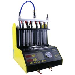Injector Connectors Australia - CT200 gasonline 6 4 cylinder Car Motorcycle Auto Ultrasonic Injector Cleaning Tester machine 220 110V