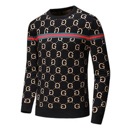 Wholesale 19s Men s Black Striped Knitted Wool Tiger Embroidered Sweatshirt Men s Brand Women s Sports Sweater Jacket Jacket Pullover Design Cardigan
