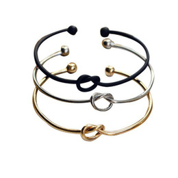 $enCountryForm.capitalKeyWord NZ - 2019 New Style Silver Gold Tone Copper Expandable Open Wire Bangles for Love Knot Cuff Bracelets & Bangle for Kids and Adults Holiday Gifts