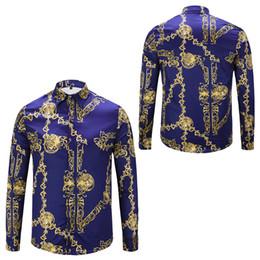 $enCountryForm.capitalKeyWord UK - Brand New Dress Shirts Men's Fashion Luxury Stylish Harajuku Casual Designer Retro Floral Animal Print Silk Shirt Medusa Shirts For Men