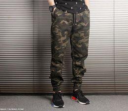 Jogger Zipper Australia - New Arrival Mens Pants Fashion Camouflage Jogging Pants Womens Zipper Overalls Beam Foot Trousers Irregular Joggers Pants
