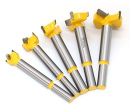 drill bits for wood NZ - 5pc Forstner Tips Hinge Boring Drill Bit Set for Carpentry Wood Window Hole Cutter Auger Wooden Drilling Dia 15 20 25 30 35mm