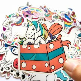 $enCountryForm.capitalKeyWord Australia - 50Pcs Pink Cute Unicorn Rainbow Fun Cartoon Jdm Doodle Decals Luggage Laptop Car Styling Bike DIY Waterproof Stickers Christmas Kids Gift
