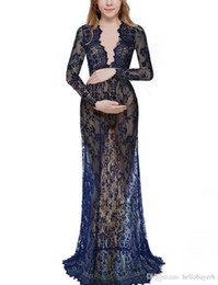 $enCountryForm.capitalKeyWord UK - A Line Sexy Sheer Lace Long Sleeve Cheap Plus Size Maternity Pregnant Evening Dresses Long Red Black Party Prom Gown Dress 2019