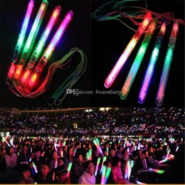 Wholesale Brand new Multi Colorful Modes LED Flashing Night Light Lamp Glow Wand Sticks strap Birthday Christmas Party festival Camp