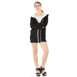 $enCountryForm.capitalKeyWord UK - Women Hooded Thick Zipper Hoodies Coa Loose Casual Fleeces Flocking Autumn Winter Jackets Long Sleeve Warm Plus Size S-3XL Moletom Tracksuit