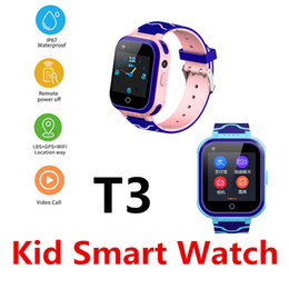 gps tracker kids wholesale NZ - Q12 T3 Waterproof Smart Watch 4G Remote Control Camera GPS WIFI Kid Children Students Telephone Watch SOS Video Call Tracker Q50 PK T5