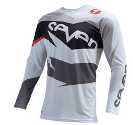 Road Racing jeRseys online shopping - 2019New SEVEN Men DH MX Downhill motocross racing jersey motorcycle moto long sleeve offroad jersey Polyester Off Road Mountain