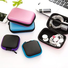 purple candy square box Australia - Mini Square Earphone Wire Organizer Box Data Line Cables Storage Box Case Container Coin Headphone Protective