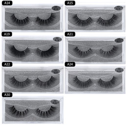 eyelashes free shipping NZ - DHL free shipping A series A15 3D Real mink Eye Lashes Thick false Eyelashes a pair of false eyelashes with Crystal box