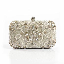 $enCountryForm.capitalKeyWord Australia - Luxury Women Evening Bags Fashion Pearl Beaded Diamond Women Evening Clutch Bag Bridal Wedding Purse Handbag Shoulder Bag Chain #88787