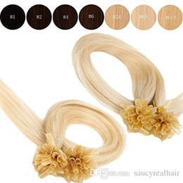 $enCountryForm.capitalKeyWord Australia - Silky Straight 200g Prebonded Italian Keratin Nail Tip U tip hair Fusion Indian Remy Human Hair Extensions,1g strand 12''--26'