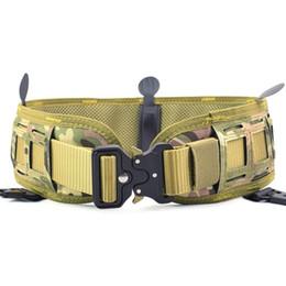 Inner Belt Australia - Men's Combat Nylon Tactical Waist Belt Set Slim Battle Inner Belt Laser Cut Girdle Camouflage Wargame Paintball