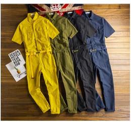 $enCountryForm.capitalKeyWord NZ - 2019 new men's Japanese retro tooling jumpsuit suit men's fashion loose short-sleeved jumpsuit trend one uniform