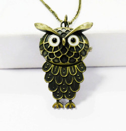 Chinese  Vintage Owl Nurse Pocket Watch Trend Bronze Fashion Glass Mirror Alloy Textured Strap New Year Gifts Available at Random manufacturers