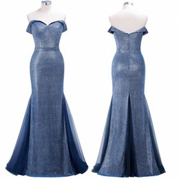 $enCountryForm.capitalKeyWord NZ - Under $50 2019 Newest Real Photo Evening Prom Dresses Mermaid Off Shoulder Sequins Reflective Bridesmaids Gowns Mother Dress CPS1249