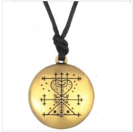 $enCountryForm.capitalKeyWord Australia - B21 Voodoo Loa Veve Pendant Money Wealth Amulet Vintage Religion Spirit Signs Necklace