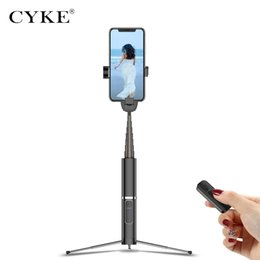 Wholesale CYKE Phantom Bluetooth Selfie Stick Portable Handheld Smart Phone Camera Tripod with Wireless Remote For iPhone X Xiaomi Huawei Android