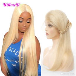 $enCountryForm.capitalKeyWord Australia - 613 Honey Blonde Color Remy Brazilian Straight Lace Front Human Hair Wig 10 - 26 inch 1B 613 Ombre Frontal Wigs for Black Women