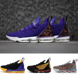 huge selection of 85657 5a9da NIKE LeBron James 16 XVI 16s Basketball-Schuhe King Court Purple 1 durch 5  Multi-Color König Oreo I Versprechen Lakers 16 Herren Designer Trainer ...