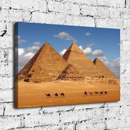 Egypt Figures Australia - Egypt Pyramid Camel,Home Decor HD Printed Modern Art Painting on Canvas (Unframed Framed)