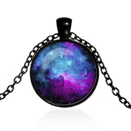$enCountryForm.capitalKeyWord Canada - Cross-border selling interstellar crossing time gemstone pendant necklace Europe and America alloy glass necklace sweater chain wholesale