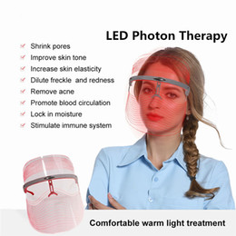 Wholesale 3 in 1 LED Therapy for Face Photon Rejuvenation Facial Mask Beauty Spectrograph Skin Care Beauty Acne Anti-wrinkle