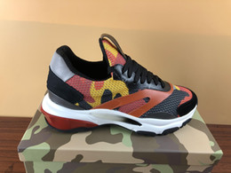 Camouflage running shoes men online shopping - New Popular Designer sport shoes women man top quality fashion camouflage mesh rubber sole luxury running sneakers with original box