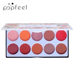 Discount luminous disk - POPFEEL Newest 10 Color Eyeshadow Palette Red Gitter Natural Shimmer Eye Shadow Sunset Disk Matte Pearlescent Shadow Dis