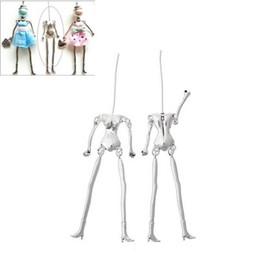 $enCountryForm.capitalKeyWord Australia - LASPERAL Human Body Skeleton Pendants Fit Doll Making DIY Charm Necklace Silver Tone Kids Toy Dolls DIY 11.5cm x1.8cm,5PCs