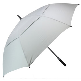 Large canopy online shopping - Golf Umbrella for Men Automatic Open Windproof Umbrellas Extra Large Oversize Double Canopy Vented Waterproof Stick Inch color Grey