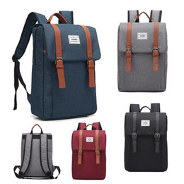 $enCountryForm.capitalKeyWord Australia - 2019 Wholesale Backpack Travel Sports outdoors Men and women canvas bags Schoolbag Durable 16 inches Computer package Grey Black Blue P030
