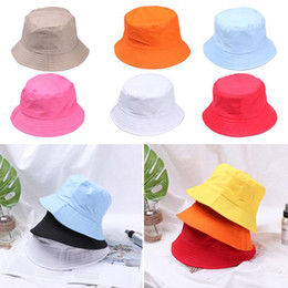 hat sunscreen Australia - New Unisex Summer Bucket Hat Foldable Fisherman Hat Women Cotton Fishing Hunting Cap Basin Chapeau Sun Prevent Outdoor Sunscreen