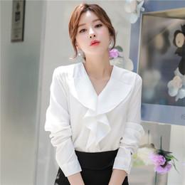 1da7290456ff Korean Ladies Chiffon Ruffle Blouse Online   Korean Ladies Chiffon ...