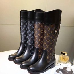 73caba1f56e5d2 Floral print platForm shoes online shopping - 2019 Retro Women Boots Zipper  Knee High Boots Round