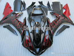 $enCountryForm.capitalKeyWord Australia - 100% Fitment. High grade Injection molding fairing kit for YAMAHA R1 2002 2003 red flames in black fairings YZF R1 02 03 LK86