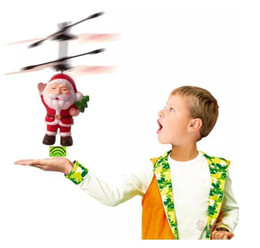 $enCountryForm.capitalKeyWord NZ - 2019 new Electric Infrared Sensor Flying Santa Claus Induction aircraft Toys RC Helicopter Drone Toy Kids Christmas Gifts 50PCS