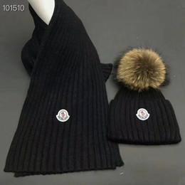 Boys Hats Stars Australia - 2019 Top Quality Celebrity design Letter Woolen Scarf Hat Men Woman Cashmere wool Fox hair ball hat 2pc 527075 3HD87 6400 001