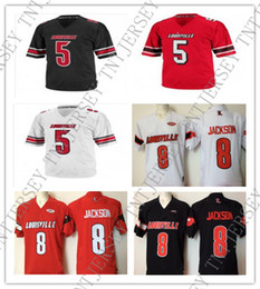 Cheap custom Louisville Cardinals collage football jerseys 5 Teddy  Bridgewater 8 Lamar Jackson 2 Smith 3 Siva 10 Dieng 11 Hancock XS-5XL 402ae7b2d