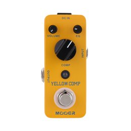 Wholesale Mooer Yellow Comp Micro Mini Optical Compressor Effect Pedal for Electric Guitar True Bypass string bass guitar