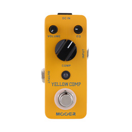 Yellow Pedal Australia - Mooer Yellow Comp Micro Mini Optical Compressor Effect Pedal for Electric Guitar True Bypass 6 string bass guitar