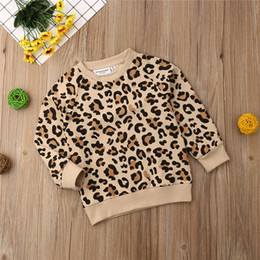 $enCountryForm.capitalKeyWord Australia - 2019 New Fashion Autumn Winter Toddler Kid Baby Girl Boy Leopard Print Top T-shirt Sweatshirts Kids Children Clothes