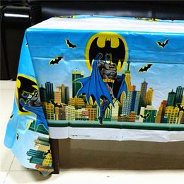 Wholesale Superhero Party Decorations Australia - 108cm*180cm Birthday Party Decoration Kids Boys Event Party Supplies Superhero Table Cloth For Birthday Tablecloth