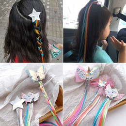 $enCountryForm.capitalKeyWord Australia - Kid's clip-in synthetic hair extension with star butterfly pony bow decorated clips hair