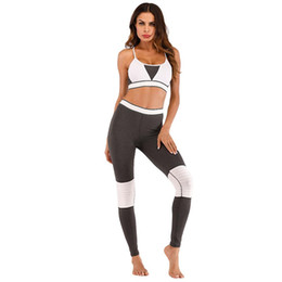 women s workout sets UK - Pieces Women Yoga Set Fitness Gym Clothes Running Yoga Bra+Pants Leggings Jogging Workout Sport Suit