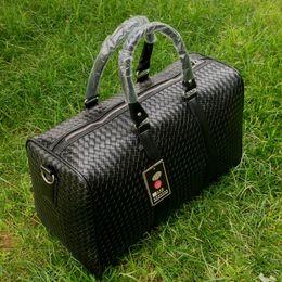 fashion duffle bags women 2019 - Large Capacity PU Leather Mens Travel Bag Fashion Travel Handbag for Man Famous Brand Camp Bag Waterproof Women Duffle c