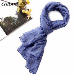 Cotton Neck Scarves Australia - NEW Fashion scarf for men and women high quality long neck warm shawl classic British style plaid cotton linen scarves
