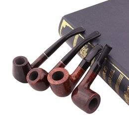 Stone Pipes Australia - Mini pipe solid wood tobacco pipe stone Nanmu tobacco leaf bucket new