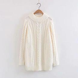 Discount fresh weave - 2019 Spring New Pattern Korean Hemp Flowers Weave Round Neck Pullover Literature Small Fresh Sweater